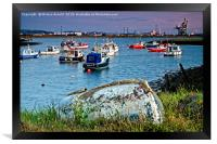 Paddy's Hole at South Gare Evening Light, Framed Print