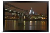 St Pauls cathedral, Framed Print