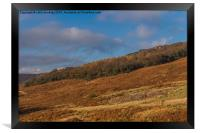 Vibrant Colour at Stanage Edge in Debyshire, Framed Print