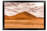 Early Morning Walkers on Dune 45, Framed Print