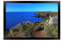 The Wales Coast Path above St Non's Bay, Framed Print