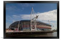 Welsh Rugby Union Stadium, Wales, Framed Print