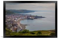 A view of Aberystwyth from Constitution Hill, Framed Print