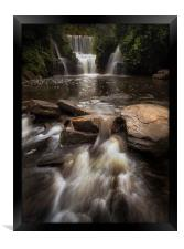 Penllergare Woods waterfall, Framed Print