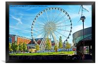Liverpool's Ferris wheel by Echo Arena, Framed Print