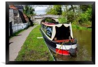 A Canal Narrowboat on the Shropshire Union canal, Framed Print