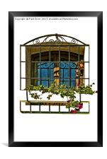 Decorative window in Funchal, Madeira., Framed Print