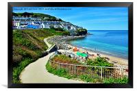 New Quay - West Wales, Framed Print