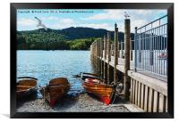Rowing boats on Windermere, Framed Print