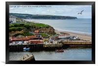 The fishing town of Whitby, Framed Print