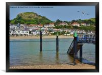 South West Llandudno viewed from Conway., Framed Print