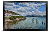 Aberdovey sea front, Framed Print