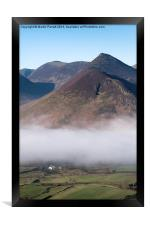 Fog Clearing Over Newlands Valley, Lake District,, Framed Print