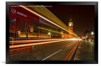 Westminster bridge bus, Framed Print