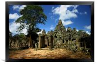 Bayon Temple View from the East, Framed Print