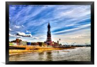 Blackpool Tower and Golden Mile during Sunny Day, Framed Print