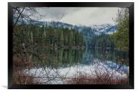 Fish Lake on a Spring Evening, Framed Print