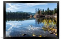 Beautiful Fall Day at Fish Lake, Framed Print