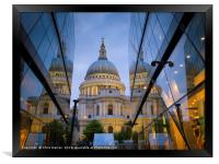 St Paul's Cathedral London England , Framed Print