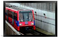 The DLR at City Airport, Framed Print