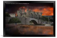Dramatic Sky Over Castell Conwy, Framed Print