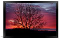 Autumn Sunrise At Chasewater, Framed Print