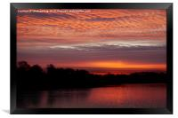 Red Sky At Chasewater, Framed Print