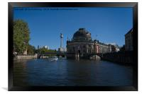 Bode Museum And TV Tower From The River Spree, Framed Print