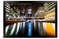 The Middle Dock, Canary Wharf, Framed Print