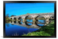 River Severn Bridge At Atcham, Framed Print