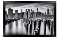 NYC monochrome, Framed Print