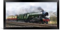 The Flying Scotsman - back to steam, Framed Print