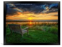 Sit and Reflect As The Sun Goes Down, Framed Print