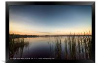 Peaceful Lake Dixie Florida Sunrise, Framed Print