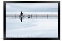 A Cycling Dog Walk On Water, Framed Print