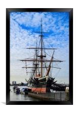 hms warrior, Framed Print