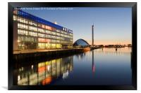 Pacific Quay, Glasgow., Framed Print