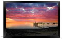 Clevedon Pier Sunset, Framed Print