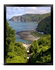 From Lynton to Lynmouth, Framed Print