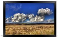 Flat Bottom Clouds Over Exmoor, Framed Print