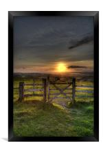 Gateway to the Sunset, Framed Print