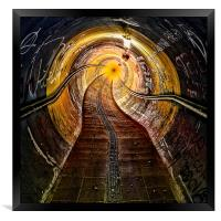 The tunnel, Framed Print