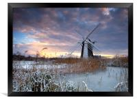 Winter at Herringfleet, Framed Print