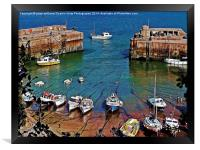 Newquay Harbour, Framed Print