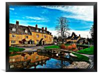 Most beautiful old English village, Framed Print