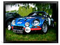 "The Alpine A110 ""Berlinette"", Framed Print"