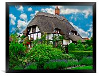 Quaint English Cottage, Framed Print