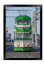 Blackpool tram, Framed Print