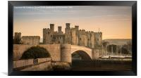 Conwy Castle Sunset Panorama, Framed Print