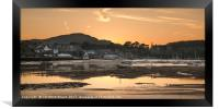 Conwy Harbour Sunset, Framed Print